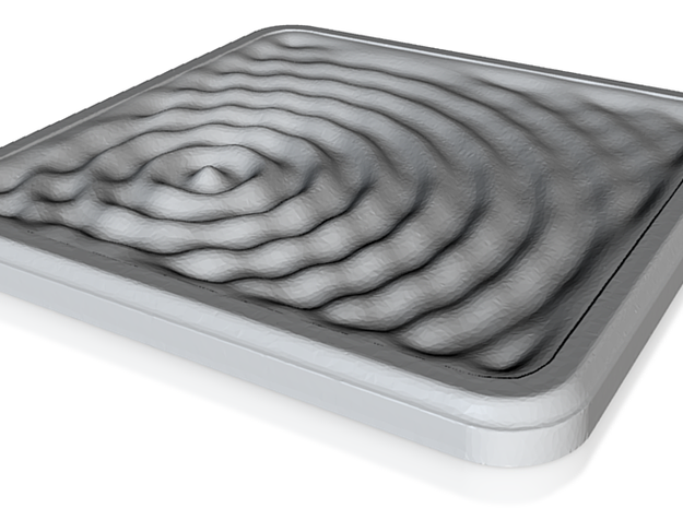 Ceramic Coaster: Water Ripples 1 3d printed