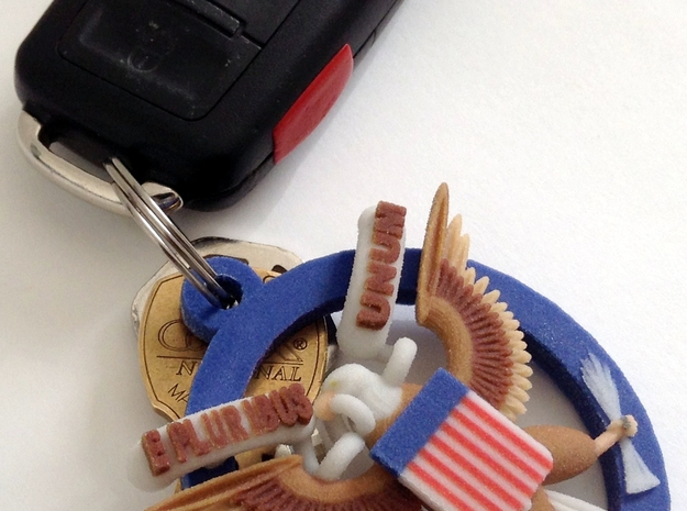 US Great Seal Emblem_Keychain 3d printed Functional View