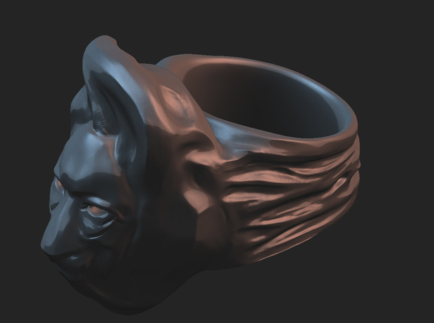 Lion Ring 3d printed