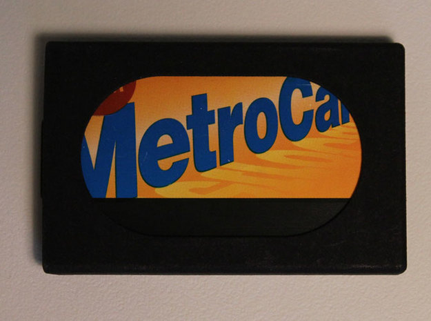 Slim Wallet with Metrocard Slot 3d printed Black