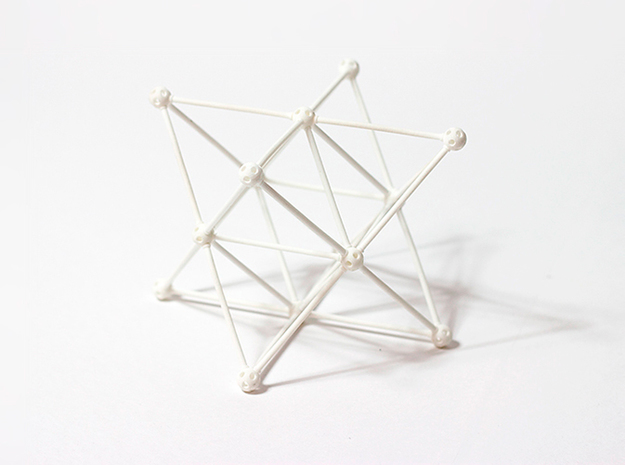'Sprued' Star Tetrahedron #white 3d printed