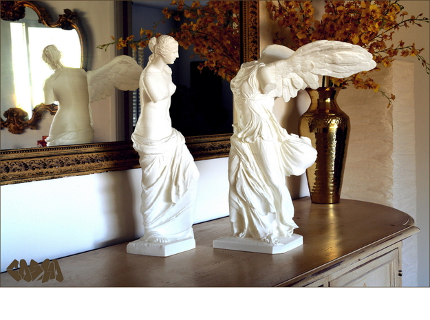 "Winged Victory (5"" tall) 3d printed Venus de Milo and Winged Victory (19.4"" and 20"" versions shown. Venus de Milo not included)"