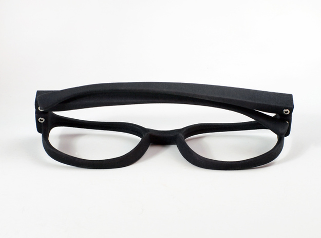 Classic Spectacle Frame 3d printed White Strong & Flexible, dyed by hand