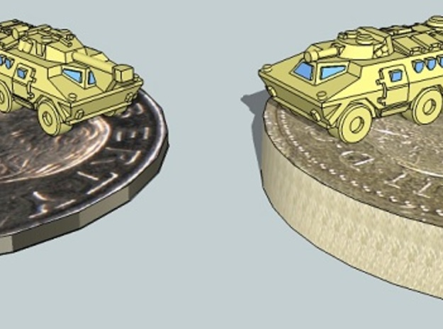 3mm-Scale Ratel-20 and Ratel-90 (24 pcs) 3d printed