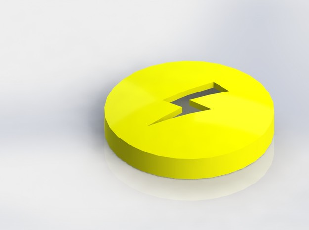 Lightning Bolt Ear Bud Cover for GLASS 3d printed