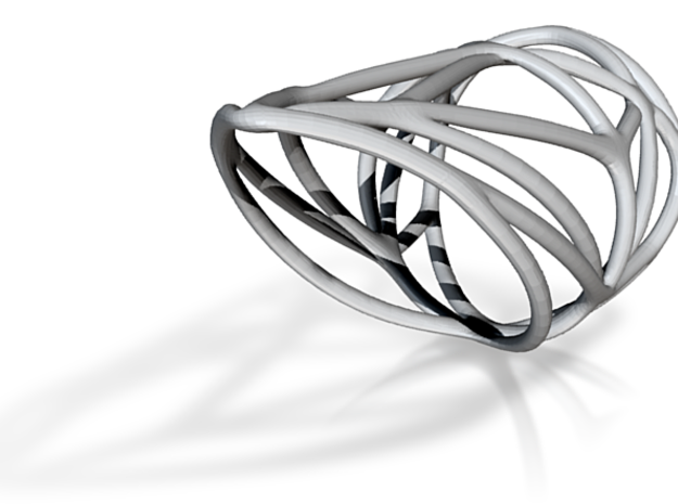 Diamond Ring (sz 7) 3d printed