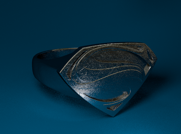 Man Of Steel - Ring 3d printed Stainless Steel Render