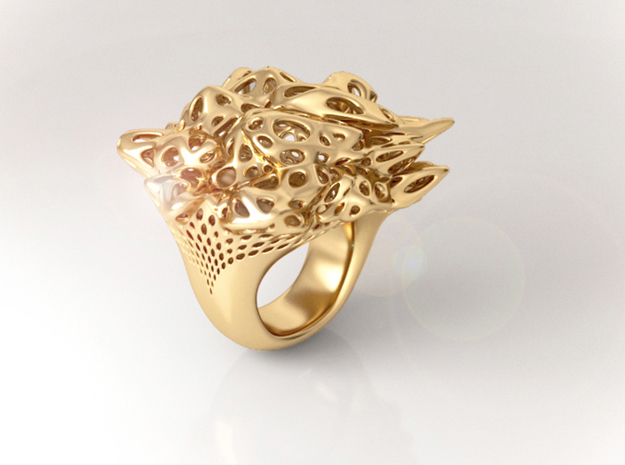 Nebula Ring 3d printed Nebula Ring Gold