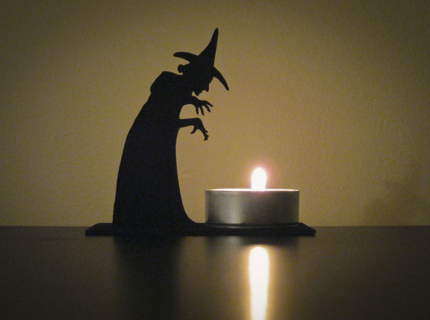 Tea Light Wicked Witch 3d printed