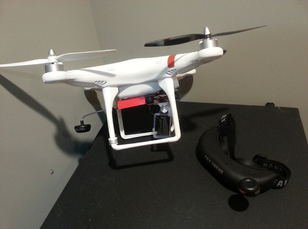 FAT SHARK Video Transmitter Mount for DJI PHANTOM 3d printed