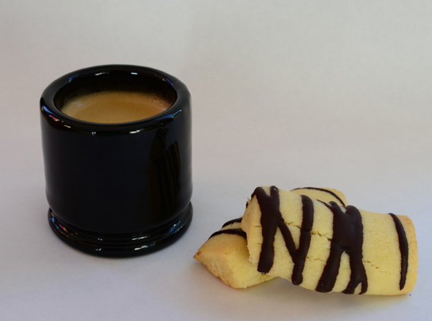 """Espresso cup and Tealight holder. """"M203 case"""" 3d printed Use it as a Espresso cup"""