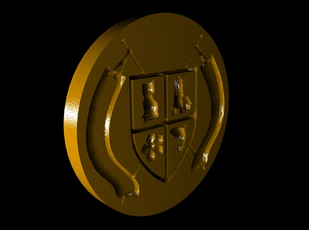 Montucio Wax Seal Stamp 3d printed CGI image of the wax stamp itself