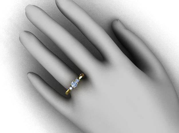 Ccw41 12 Claw Diamond Ring 3d printed