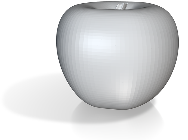 Parametric Surface Apple 3d printed