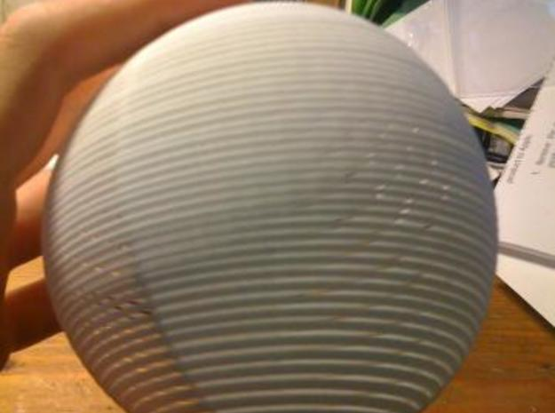 Striped Sphere 3d printed Another rest state picture.