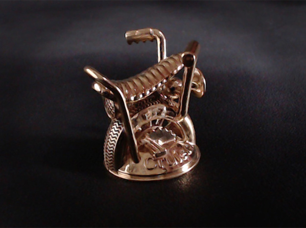 E-Z Cruiser 3d printed Shown in Polished Brass