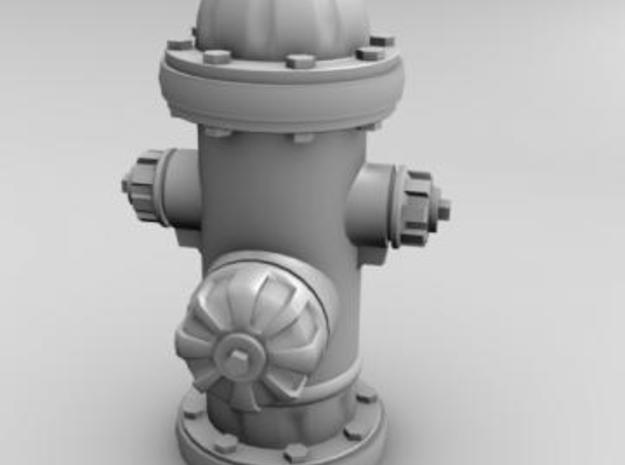 Fire hydrant, us style 3d printed Render