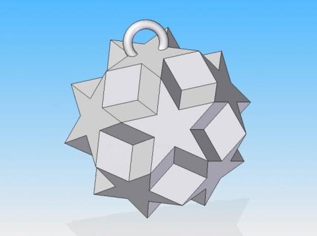 Dodecadodecahedron Charm 3d printed Solid Edge render