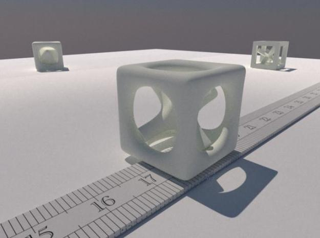 Inséparable N°1 3d printed A LuxRender rendering. The ruler is graduated in cm.