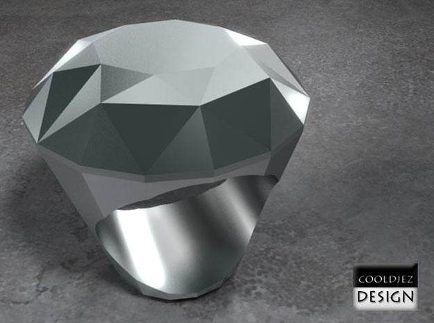 Ring - Big Diamond 3d printed RenderS