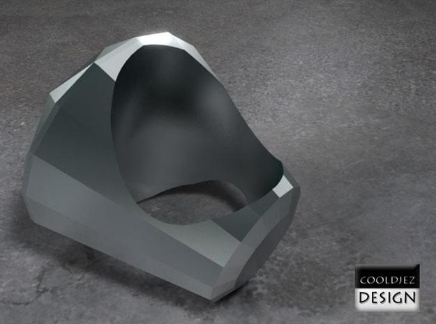 Ring - Big Diamond 3d printed RenderF