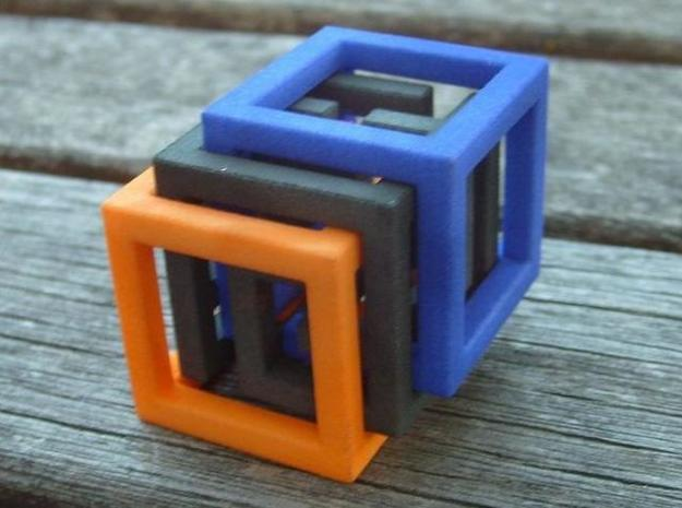 Big MazeNCubes 3d printed Description