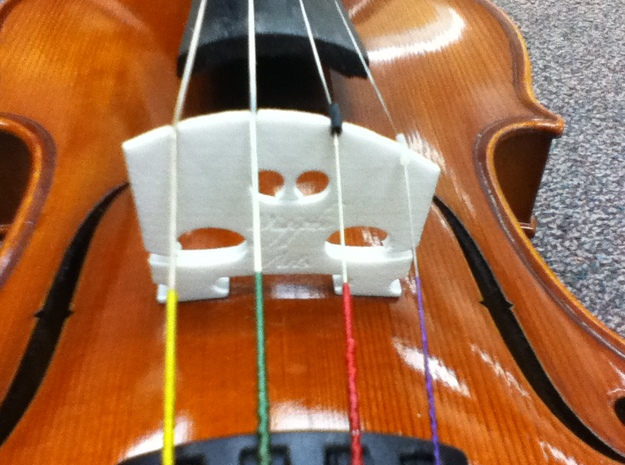 Violin Bridge V2 3d printed