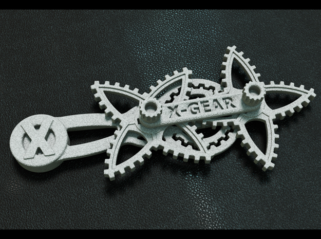 XGear Fidget Widget 3d printed X-Gear Assembly