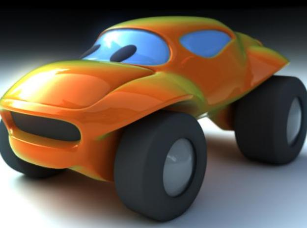 Toy Buggy 3d printed Front Render