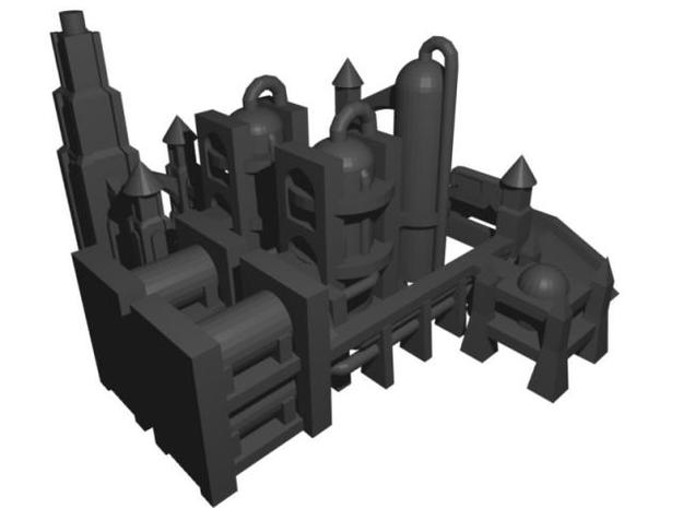 Gothic Refinery 3d printed Refinery view 2