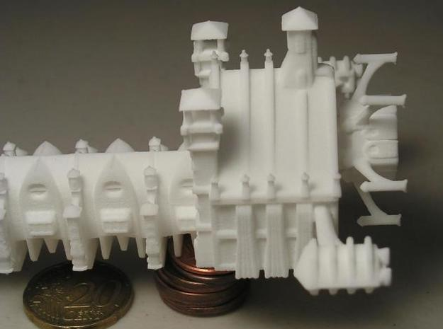 Gothic Battleship 3d printed Side Detail