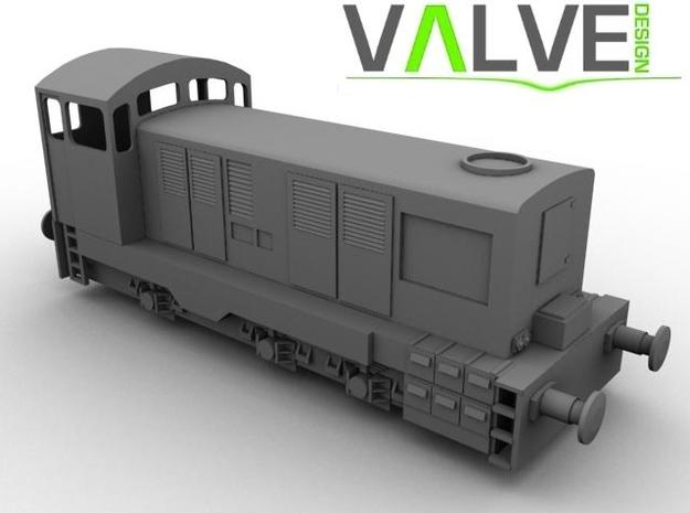 CIE E Class 421 OO Scale 3d printed Computer Render of the E421