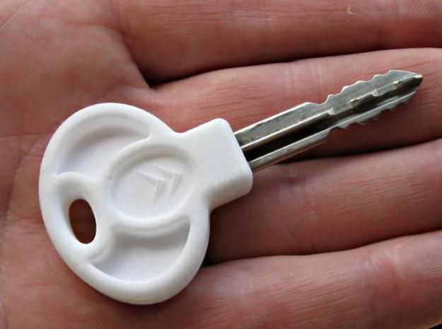 Car Key Head 3d printed The new key head, pressed onto the existing key shank