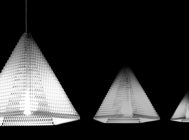 ZooM lampshade L - 27 rows 3d printed