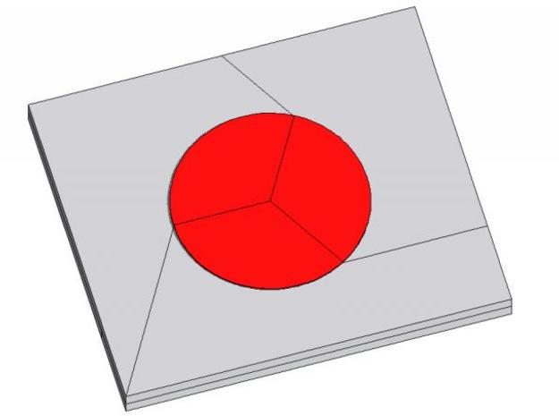 Hinomaru (Japan's flag) 3d printed Description