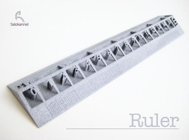 Too cool for school -Ruler 15cm/6inch 3d printed Real deal with alumide.