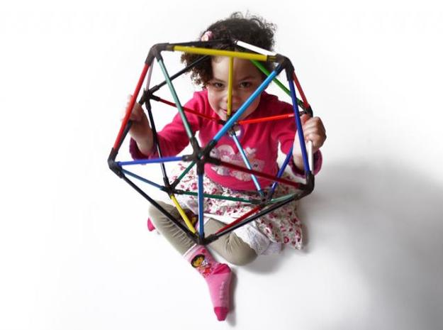 30 pencil icosahedron 3d printed educational toy