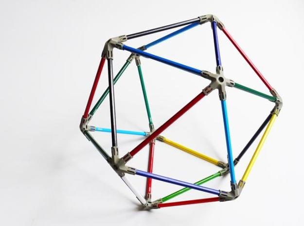 30 pencil icosahedron 3d printed colour icosahedron