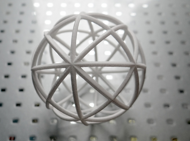 Ringed World 3d printed A Geometric Sphere comprised of beveled rings.