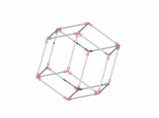 Rhombic Dodecahedron 3d printed Description