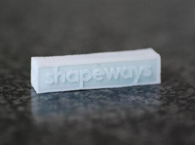 Glass Shapeways Logo 3d printed Single logo