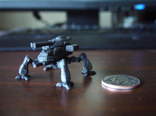 Terran Artillery Walker 3d printed Printed model in Black Detail