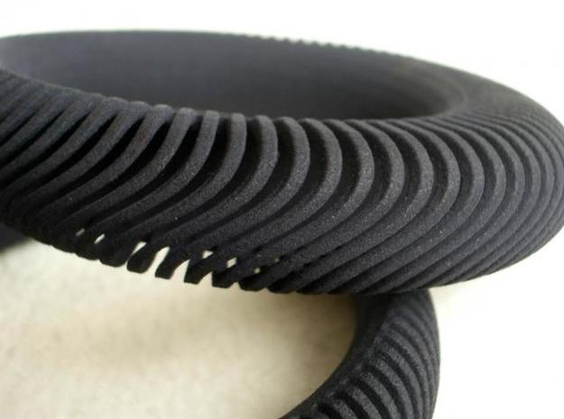 Armadillo Wave Bangle 3d printed closeup