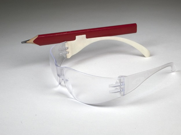 Safety Glasses Pencil Clip 3d printed