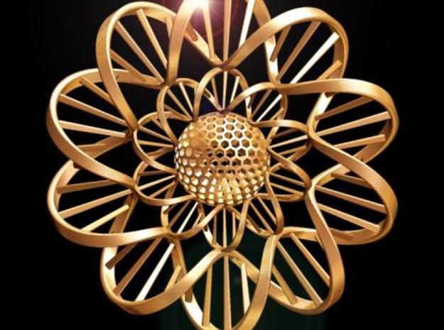 DNA FLOWER PENDANT 3d printed Fig. A