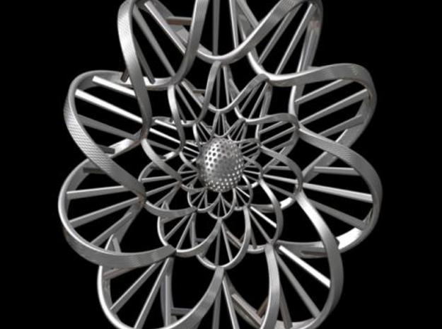 """DNA"" Flower Wall Ornament 3d printed Description"