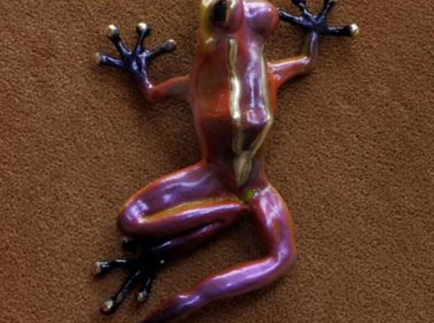 Frog Pendant 3d printed Description