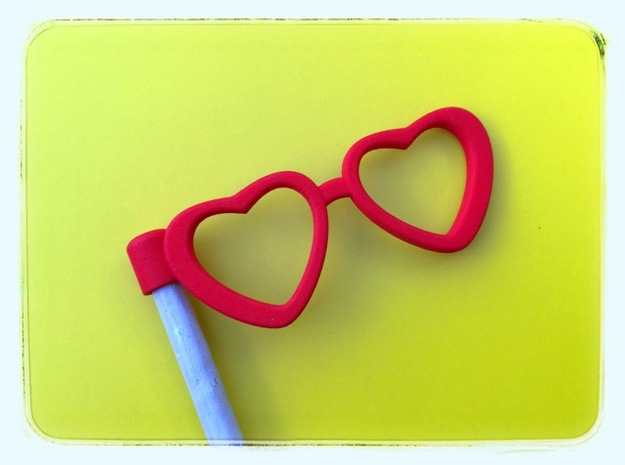 Glasses Penciltopper: Love edition 3d printed