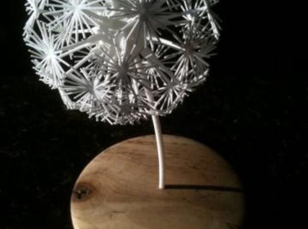 Dandelion abstract art piece 3d printed stand