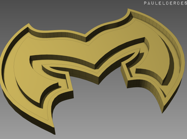 Magiranger Buckle 3d printed Render of the model. It will require painting